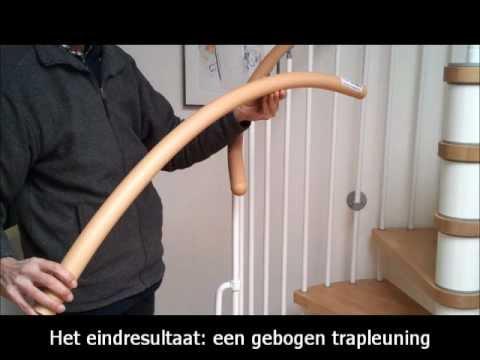 Buigbare trapleuning met de hand buigen youtube for Spiltrap hout