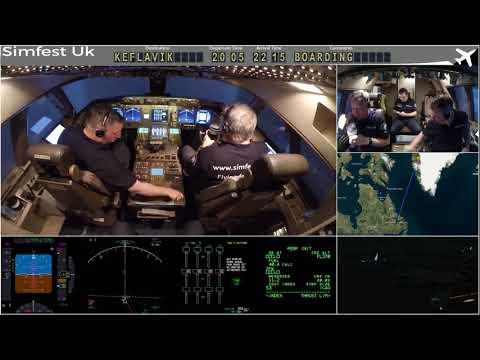 Worldflight 2017: Leg 29 Kangerlussuaq to Keflavik Boeing 747-400 Home Simulator