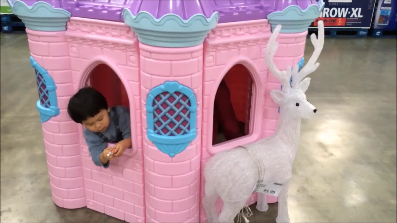 Super palace pink playhouse in Costco   YouTube Super palace pink playhouse in Costco