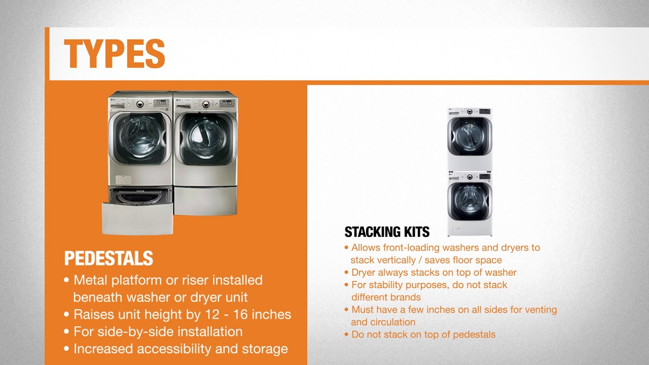 Best Washing Machine Stands And Kits For Your Laundry Room