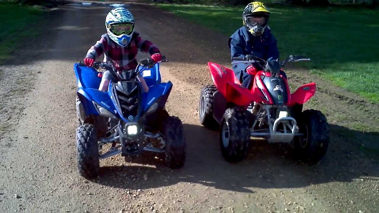 quad yamaha vs honda