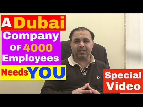 A Dubai Company of 4000 employees Needs You || Jobs in Dubai