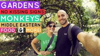 Botanical Gardens, No Kissing Signs, and Monkeys! | Kuala Lumpur VLOG Day 1
