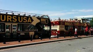 Riding the Big Bus Washington DC city tour (Red/Blue loops)