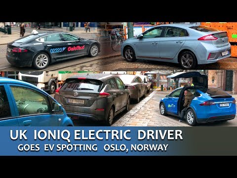 Electric Car Spotting In Norway By UK IONIQ Electric Driver