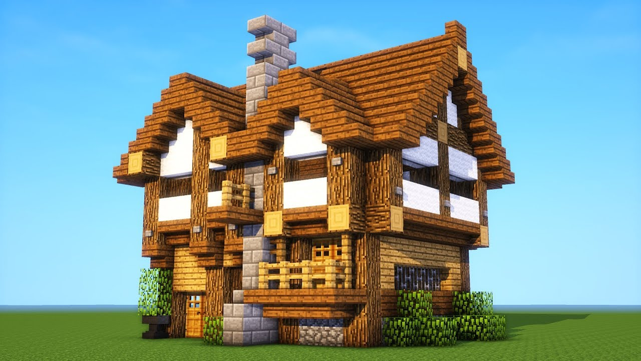 Minecraft Tutorial  How To Build A Medium Survival House   Medieval Mansion   2019