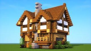 minecraft survival medieval medium build mansion tutorial