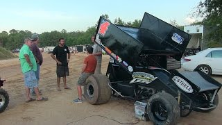 Southern Outlaw Sprint Cars 50 Lap Race at Hattisburg Speedway 8-23-14