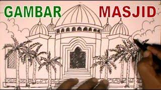Menggambar Masjid - Belajar dan Latihan