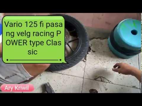 [Bengkel Vlog]|pasang velg racing POWER type Classic di Honda Vario 125 fi