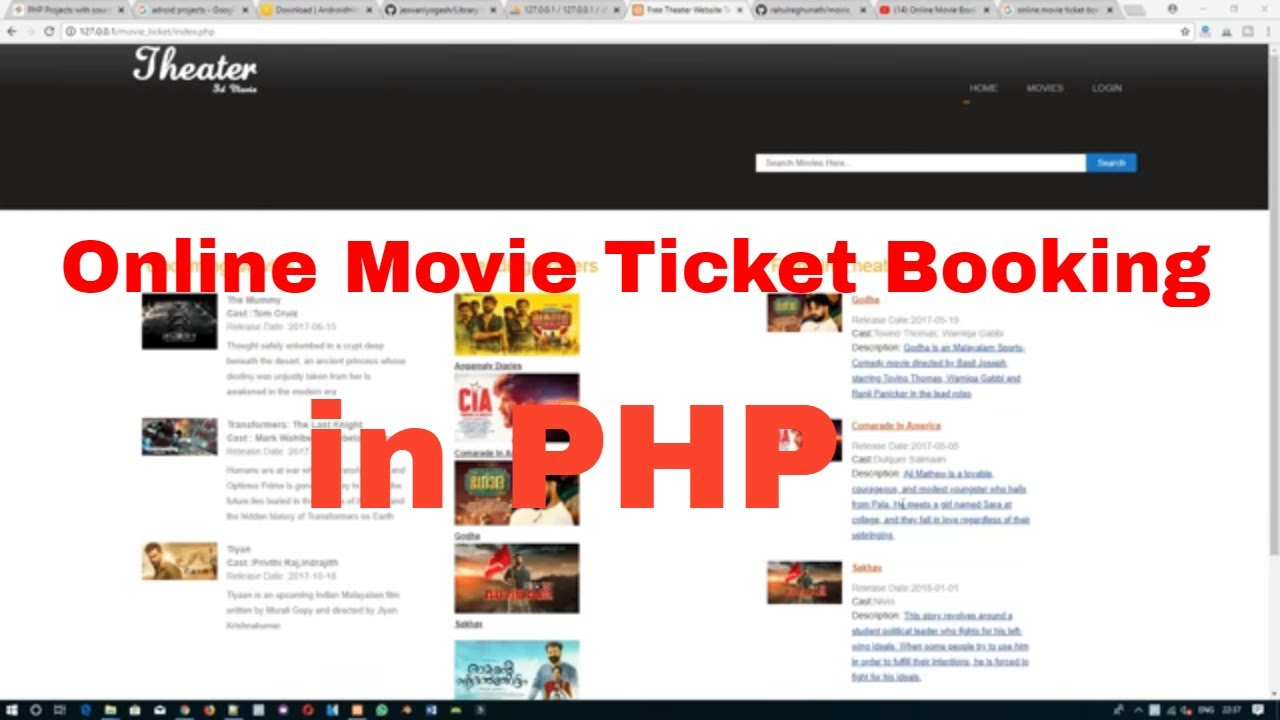 Online Movie Ticket Booking System In Php Youtube