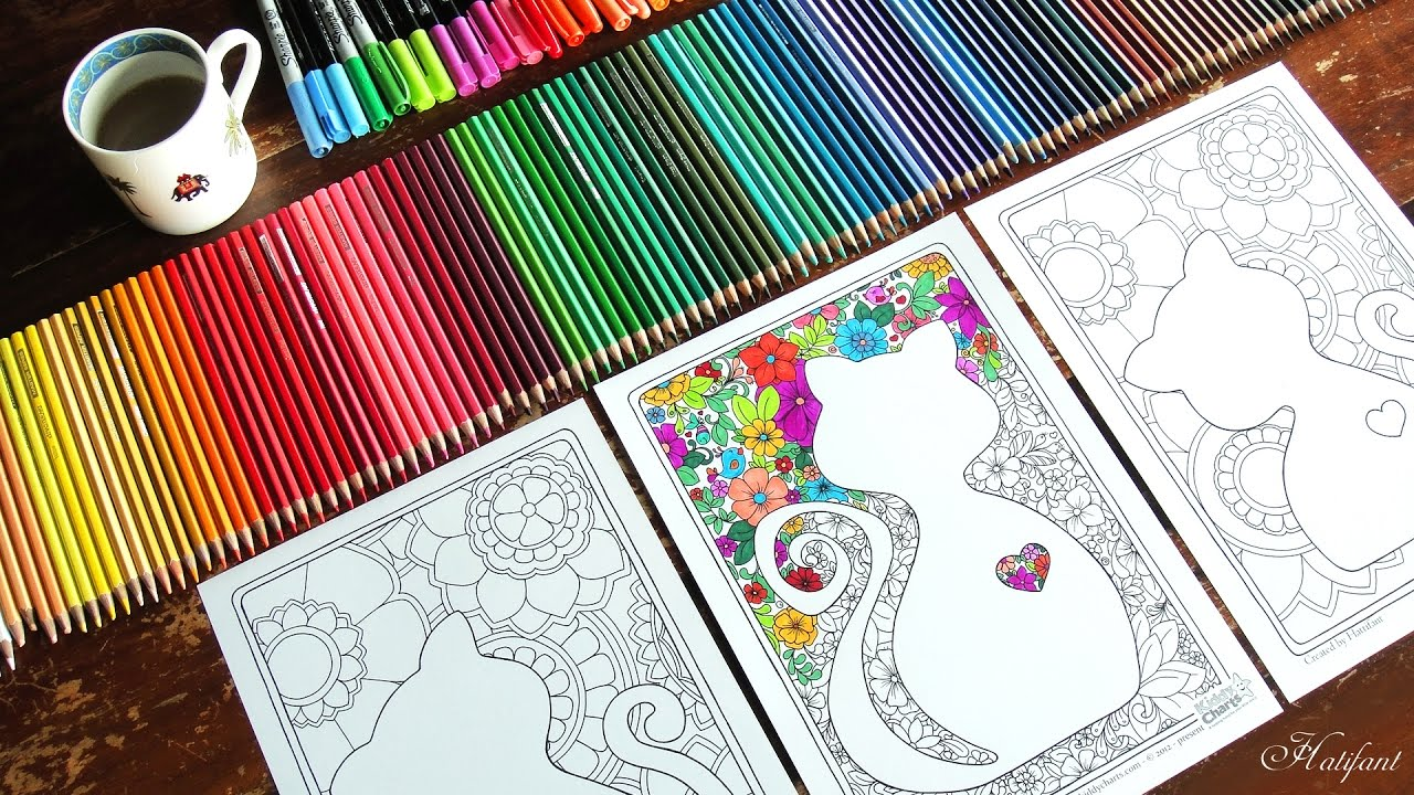 Cat Lovers Coloring Pages For Kids And Adults Hattifant