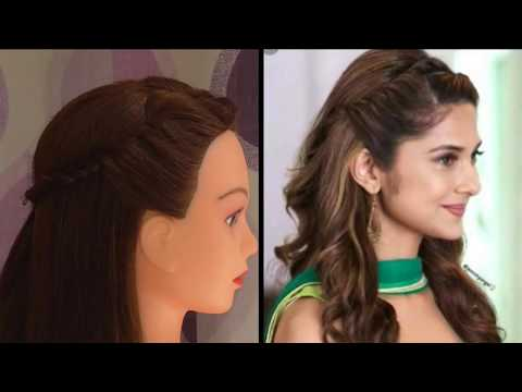 EASY GIRLS HAIRSTYLE FOR COLLAGE \ OUTGOING \WEDDING || ZENNIFER WINGET INSPRIED HAIRSTYLE || thumbnail