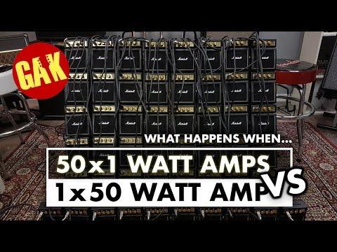 1x50W Marshall VS 50x1W Marshall Mini Amps