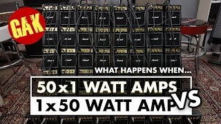 1x50W Marshall VS 50x1W Marshall Mini Amps