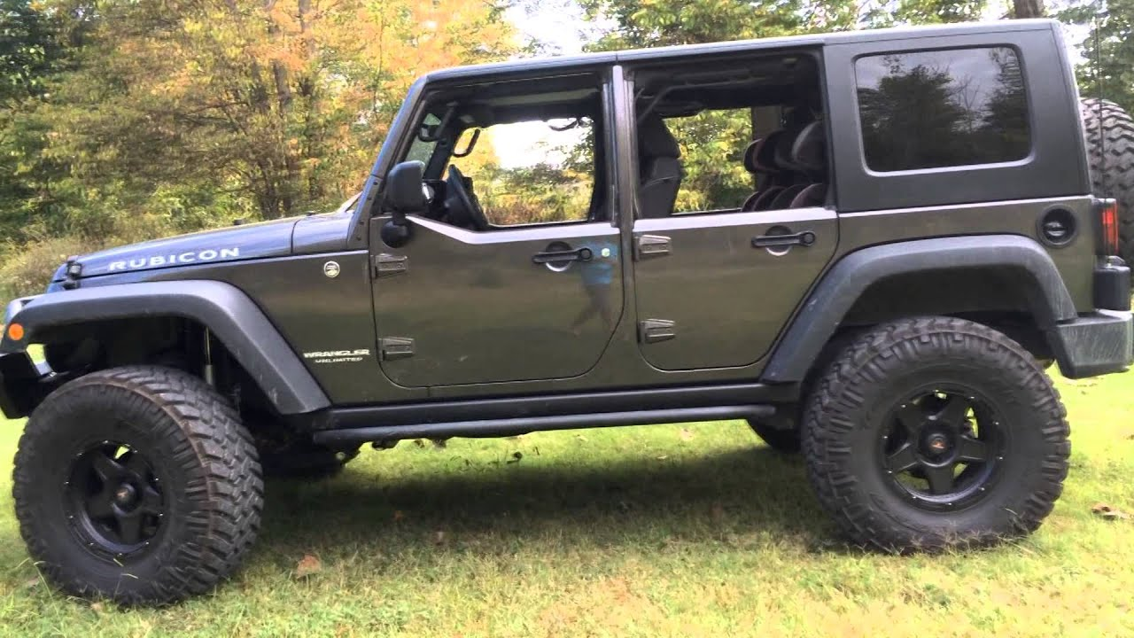 Factory JK Half Doors With Factory Hardtop on a 2014 Jeep Wrangler JK Unlimited 4 Door Jeep On 37\u0027s - YouTube & Factory JK Half Doors With Factory Hardtop on a 2014 Jeep Wrangler ... Pezcame.Com