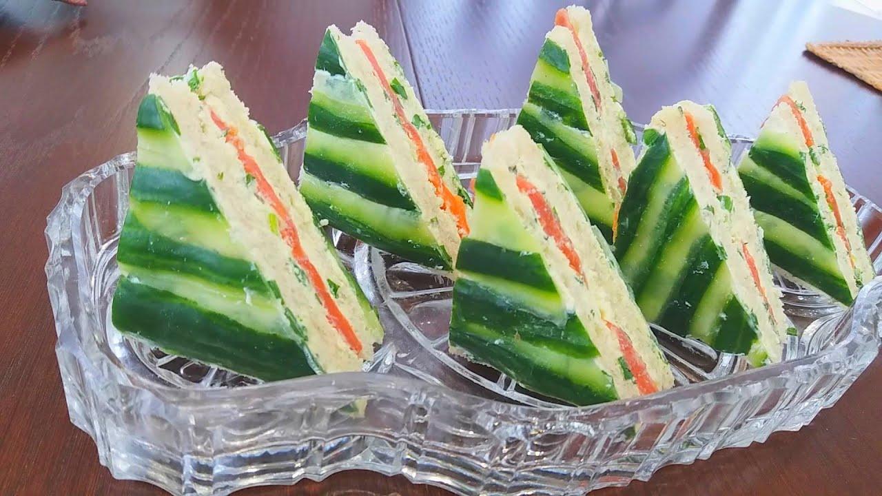 Бутерброды с Красной Рыбой.Отличная Закуска для Праздничного Стола.