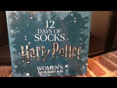 harry potter 12 days of socks day 1