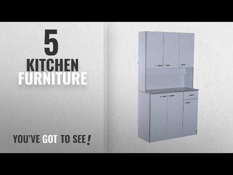 top-10-kitchen-furniture-[2018]:-homcom-wooden-kitchen-multi-storage-cabinet-display-cupboard-shelf
