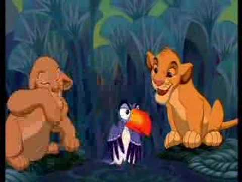 The lion king timon and pumba hula song