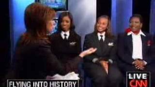 First all African American Female Crew of a Commercial Airliner
