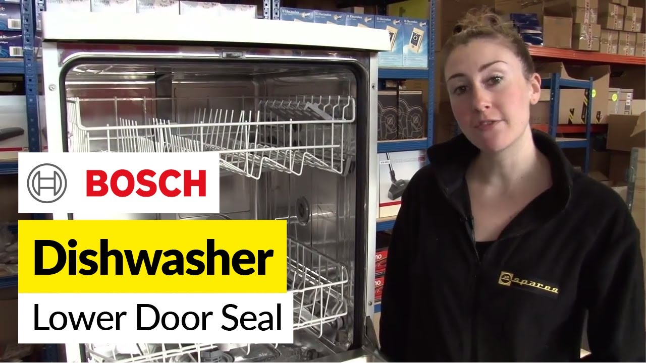 how to replace the lower dishwasher door seal on a bosch dishwasher youtube [ 1280 x 720 Pixel ]