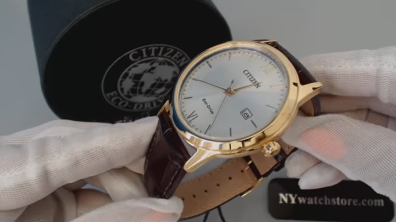 s citizen eco drive brown leather dress