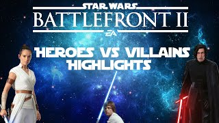 Some Really Good Rounds in Heroes vs Villains | Star Wars Battlefront 2