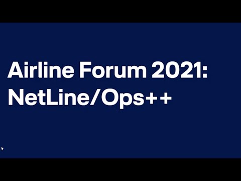 Airline Forum 2021 - Andres Radig on NetLine/Ops ++ / Lufthansa Systems