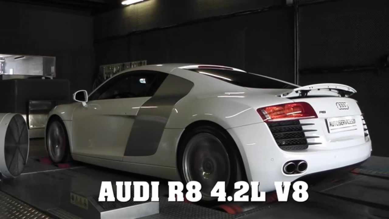Audi R8 42l V8 Sur Banc De Puissance Youtube