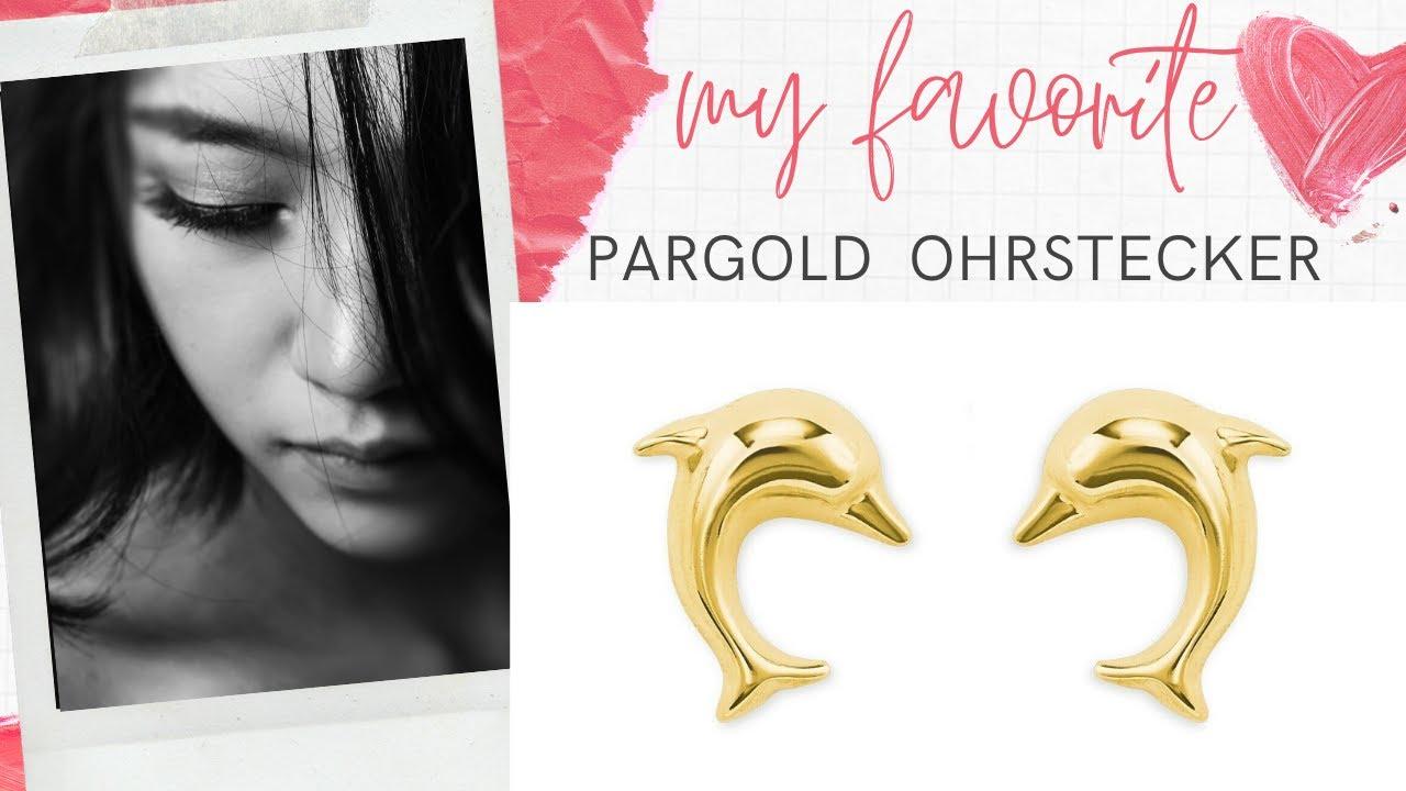 pargold14 karat gold 585 delphine ohrstecker ohrringe