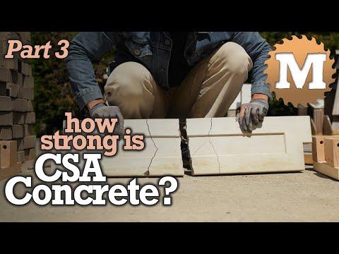 How Strong is CSA Concrete? - Deflection Test Lightweight Garden Box Panels