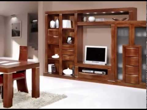 Muebles de salon rusticos youtube for Muebles salon madera maciza