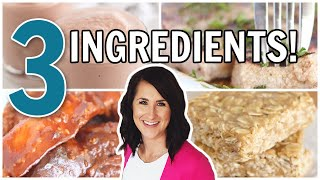 15 EASY 3 Ingredient Recipes | Instant Pot | Air Fryer | No Bake |