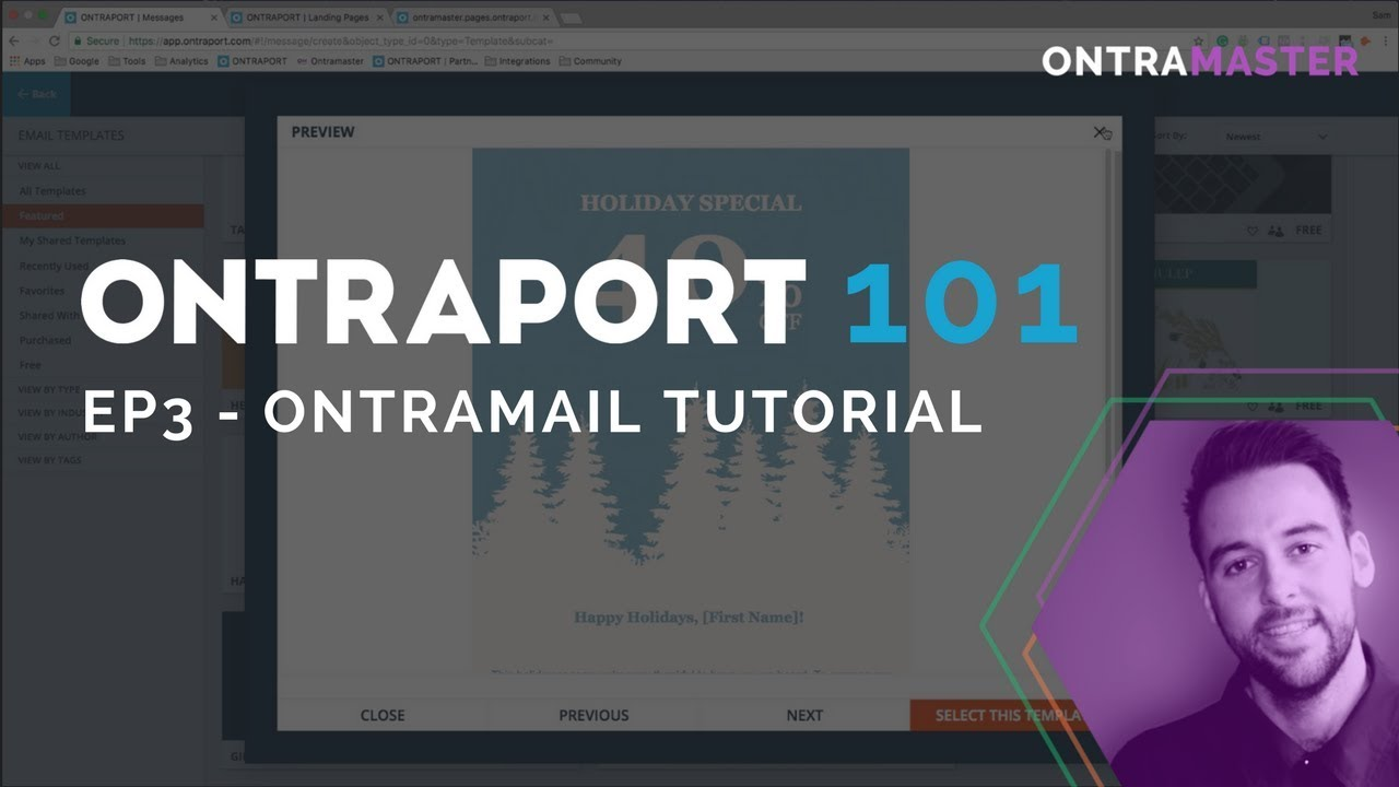 Ontraport 101 - Ep3 - Ontramail Tutorial - YouTube