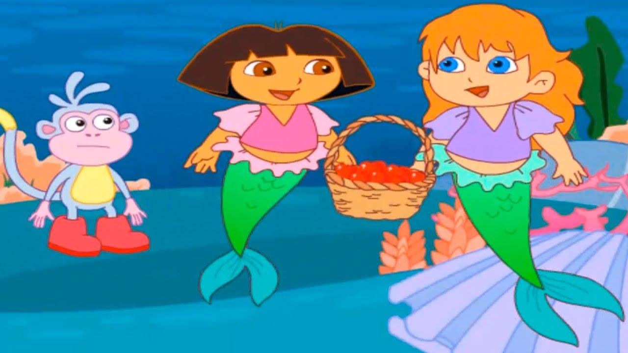 Dora The Explorer Dora And Mermaid Birthday Great Day