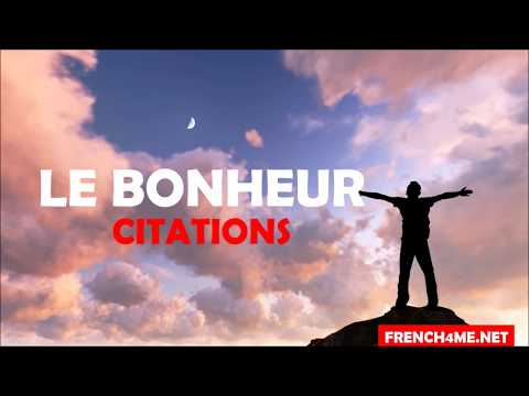 Learn French With 10 Quotes # Happiness # Vol 1