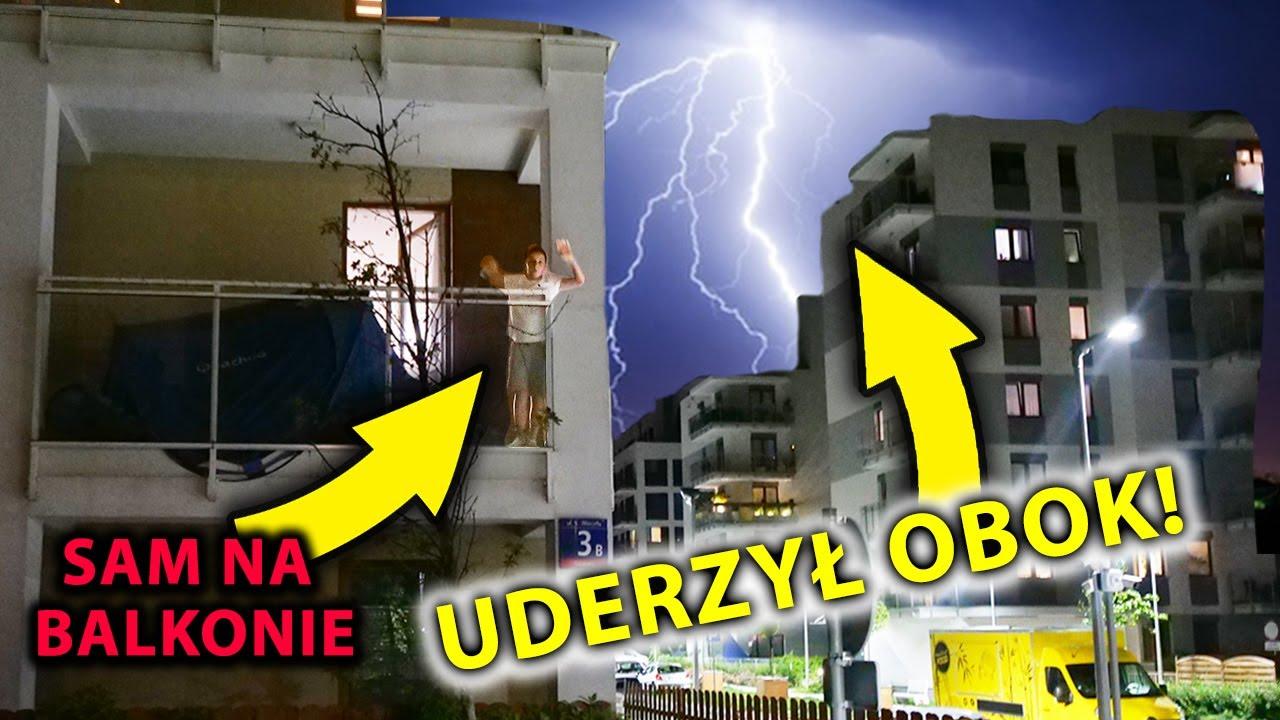 24H NA BALKONIE PODCZAS BURZY CHALLENGE!