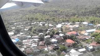 Wings Air Manado - Buli Via Ternate Prepare Landing at Ternate,Sultan Babulah Airport