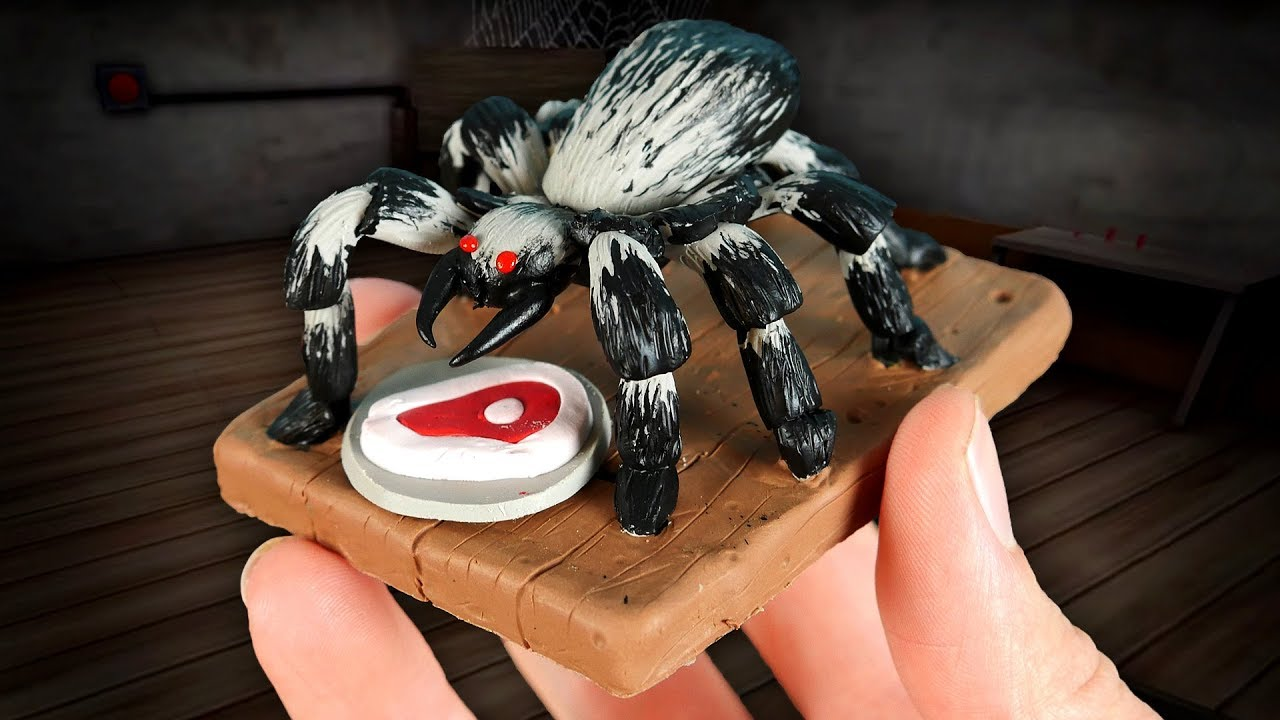 Making GRANNY'S PET SPIDER in POLYMER CLAY!🕷