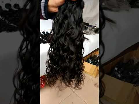natural wave human hair weft from Qingdao faceworldhair industry