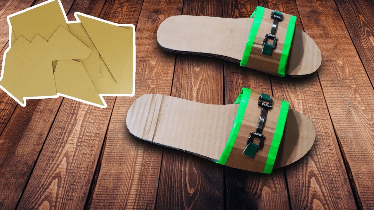 How To Make Slippers From Cardboard At Home Best Out Of Waste