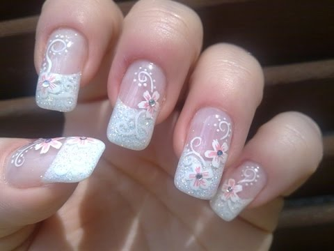 Wedding Nail Designs - YouTube