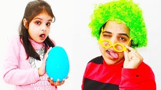 Ashu and Mommy Pretends Play w/ Giant Surprise Eggs and Toys