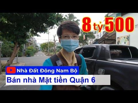 Video nhà bán Quận 6 - Mặt tiền khu dân cư Bình Phú 2 phường 10 Quận 6