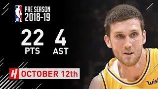 Sviatoslav Mykhailiuk Full Highlights Lakers vs Warriors - 2018.10.12 - 22 Pts, 4 Assists!