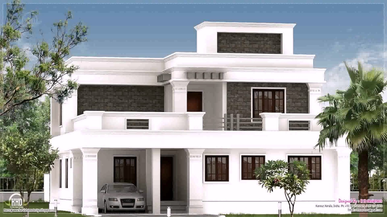 Flat roof style house plans youtube