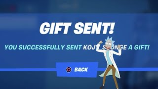 Fortnite: How to Gift in Chapter 2 Season 7 | Fortnite Battle Royale Gifting Glitch