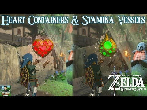 Heart Containers & Stamina Vessels GUIDE - The Legend of Zelda: Breath of The Wild