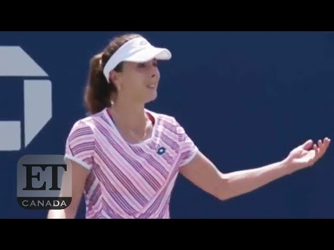 Alize Cornet Penalized For Removing Shirt At US Open